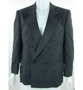 VINTAGE St Michael - Size: 42'' - Black - Wool Mix Double Breasted Dinner Jacket