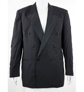 "Yves Saint Laurent - Size: 42""  - Black - Pure New Wool Double Breasted Dinner Jacket"