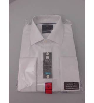 "M&S Collection Size 16"" Collar White Shirt"