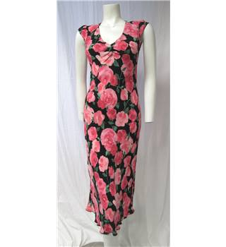 Florence + Fred  Size 10  Pink And Black Rose Print Dress