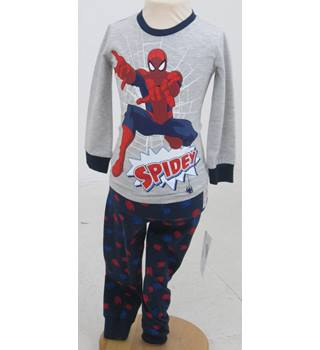 NWOT M&S - Age : 2 - 3 Years - Grey Spider-man top and navy Blue Sleep trousers