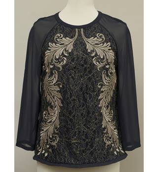 Black and Gold Ted Baker Top Ted Baker - Size: M - Black