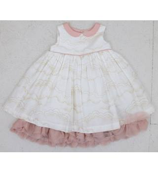 NWOT M&S - Age: 3-6 months - White Dress with a Pink Petticoat