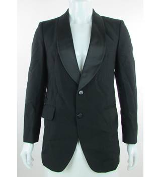 Burton - Size: 38'' - Black - Single Breasted Dinner Jacket
