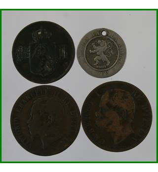 Norway, Italy, Belgium - 19th C coins