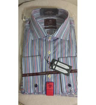 "Marks and Spencers Luxury collection striped shirt BNWT 16"" regular fit 41cm M&S Marks & Spencer - Size: L - Multi-coloured"
