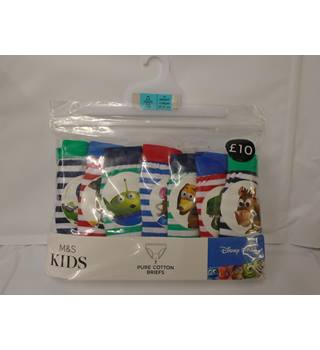 M&S Marks & Spencer - Size: 5 - 6 Years - Multi-coloured - briefs (L10)