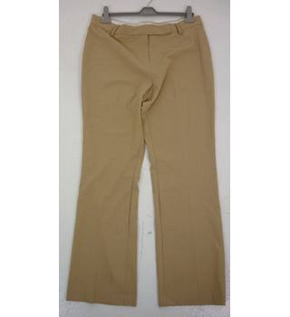 "M & S Size: 16, 33"" waist, 31"" inside leg Buff Brown Smart/Stylish Polyester & Viscose Trousers"