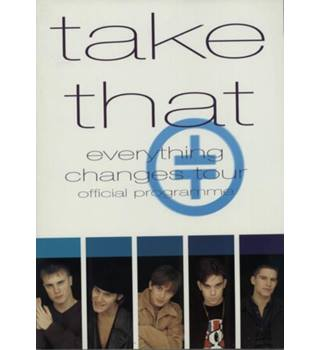 Take That Everything Changes Tour Official programme