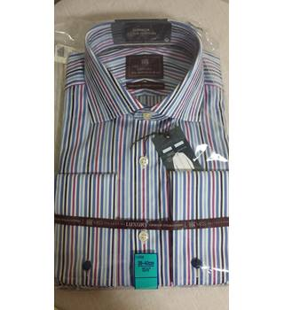 "Marks and Spencers Luxury collection striped shirt BNWT 15.5"" regular fit 39-40"