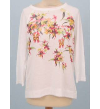 NWOT  M&S Collection- Size: 12 - White with Floral Print Top