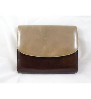 Kurt Geiger Brown and Beige Envelope Clutch Bag