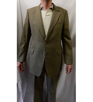 Blue Quill - Size: L - Brown - Single breasted suit
