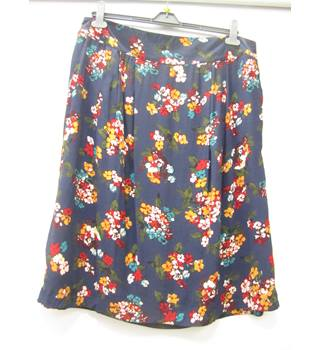 BNWT Joules - Size: 18 - blue, red & yellow mix floral patterned skirt