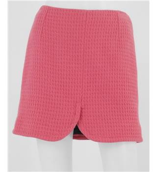 Whistles - Size 10 - Pink with cross woollen pattern mini skirt