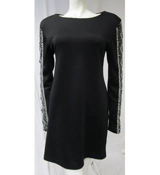 Top Shop, size 12 black dress with embellished sleeves