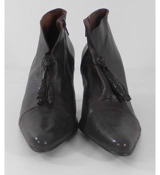 Paco Molina Brown Leather Boots Size: 6