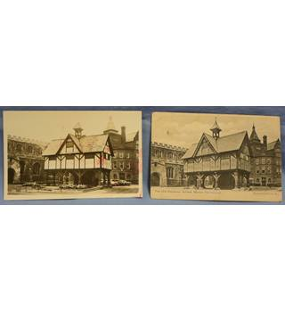 Two views of the Old Grammar School, Market Harborough (50 years separates the 2 views)
