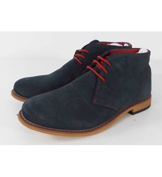 M&S Size 6 blue suede boot