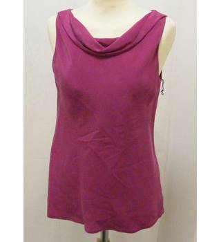 Laura Ashley - Size: 8 - Raspberry Sleeveless top