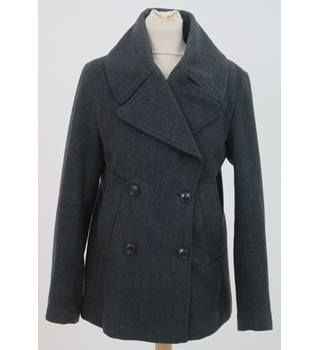 Gap - Size: 6 - Grey Double breasted Overcoat