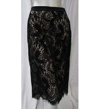M&S Size 18 Lace Skirt M&S Marks & Spencer - Size: 18 - Black