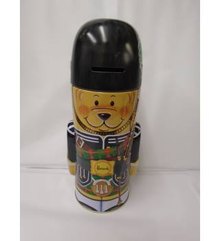 harrods piper bear empty tin /moneybox (L10)