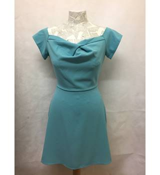 trendy BNWT NEW LOVE - Size: M - turquoise boat neck, short dress