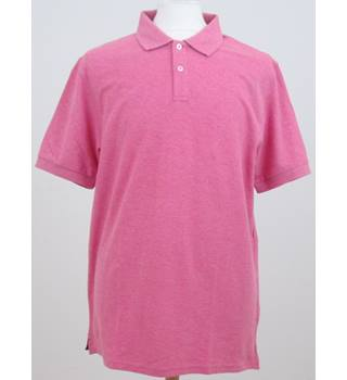 NWOT M&S size: L soft pink polo shirt