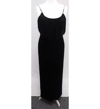 DUSK - Size 14 - Long Black Evening Dress