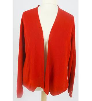 M&S Per Una Size 20 Cherry Red Edge to Edge Cardigan