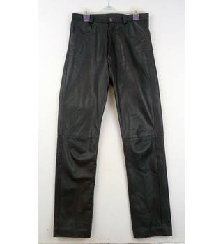 "Camanchi - Size: 28"" - Black -  Leather Trousers"