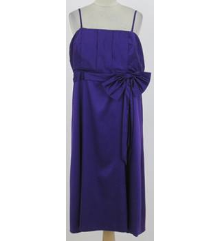 Kaleidoscope: Size 18: Purple cocktail dress with side bow