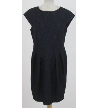 Jane Norman - Size: 8 - Navy blue pinstripe with brass buttons sleeveless dress