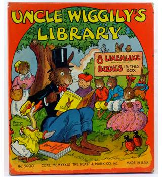 Uncle Wiggily's Library : Box Set 8 Linenlike books 1939