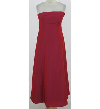 BNWT: Debenhams Size 8: Red bandeau evening dress