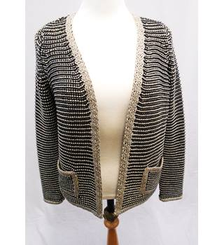 M&S - Size 10 - Black & Gold & Silver - Heavy Cardigan