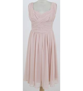 ASOS: Size 12: Pastel pink cross over pleated bodice  party dress
