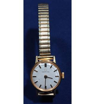 Vintage Certina Ladies gold plated mechanical watch. Expanding bracelet.