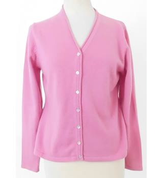 The Cashmere Company Size M Pink V Neck Cashmere Cardigan