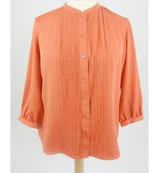BNWT Precis Size UK 14 Coral Orange Pintuck Blouse