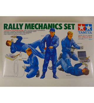 Excellent 1:24 scale Rally Mechanics set by Tamiya