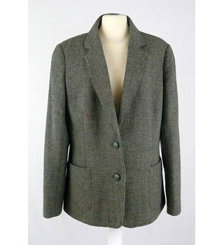 Vintage St Michael - Size: 14 - Green Tweed - Jacket