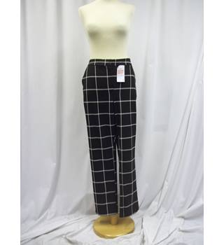 Anthology - Size: 16 - Black and White - Checked - Trousers