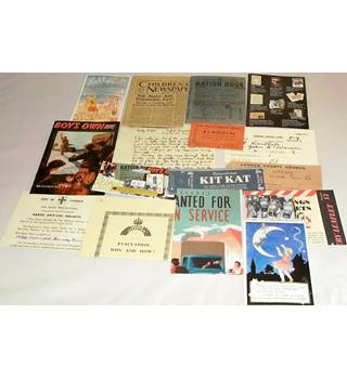 Copy Ration Book and other 44/45 memorabilia