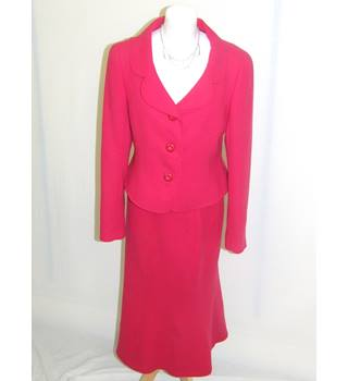 Hobbs Ladies Red Two Piece Suit Hobbs - Size: 12 - Red - 3 piece skirt suit