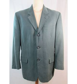 "Debenhams - Size: 40"" - Sage Green Linen mix - Single breasted suit jacket"