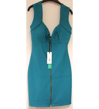 Rare London Zip Front Bandage Dress (size 12) - BNWT Rare London - Size: 12 - Blue - Sleeveless