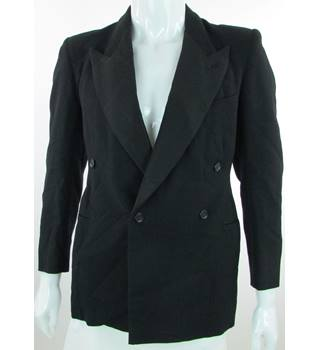 "VINTAGE Unbranded - Size: 36"" - Black - Double Breasted Dinner Jacket"