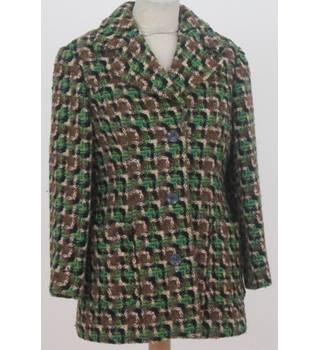 Unbranded - Size: 12 green mix houndstooth coat